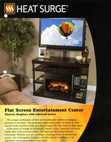 Heat Surge Fireplace Entertainment Center Brochure - The Firebird