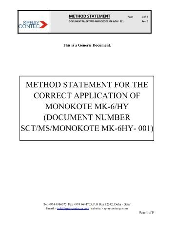 Method statement for the correct application of ... - Structural Steel