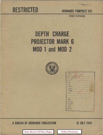 OP-831 Depth Charge Projector Mark 6 - Personal Page of GENE ...