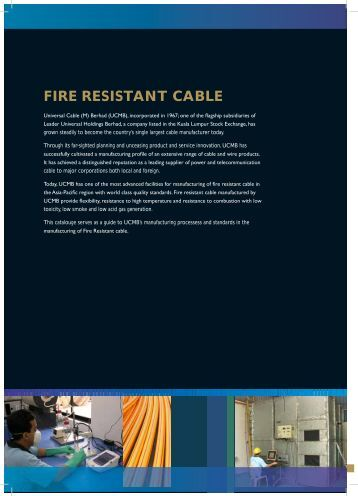 FIRE RESISTANT CABLE - Universal Cable (M)