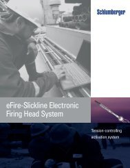 eFire-Slickline Electronic Firing head System - Schlumberger
