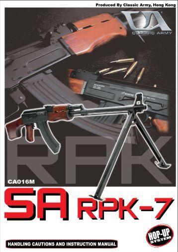 CA016M Manual PDF - Classic Army