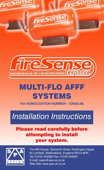 Firesense Manual (Nov 2010).indd - SPA Technique