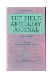 the field artillery journal - march-april 1939 - Fort Sill - U.S. Army