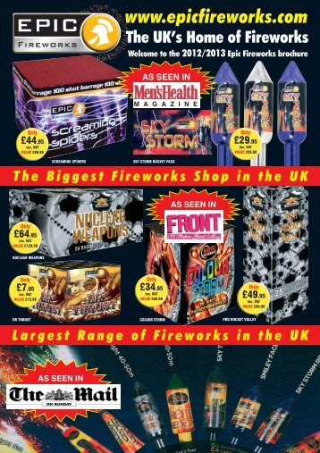 Please click here to download the latest brochure - Epic Fireworks