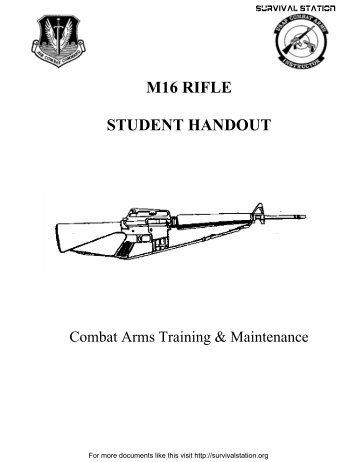 M16 Rifle Student Handout.pdf - Modern Prepper