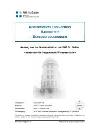 REQUIREMENTS ENGINEERING BAROMETER - Omis AG