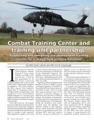 Fires Bulletin January-February 2012 - Combat Training ... - Fort Sill