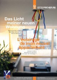 Das Licht meiner neuen Wohnung L'éclairage de ... - Otto Fischer AG