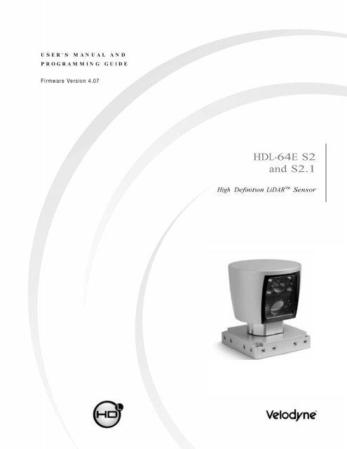 HDL-64E S2 Manual - Velodyne Lidar