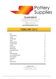 Pottery Supplies Offer…