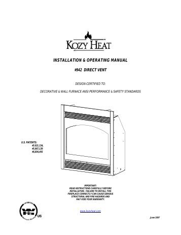 installation & operating instructions for fireplace gas logs ...