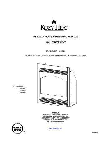 Installation Manual Atra Adirondack GZ 450 DV Fireplaces