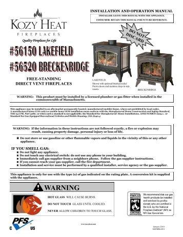 Chaska XL Manual - Kozy Heat Fireplaces