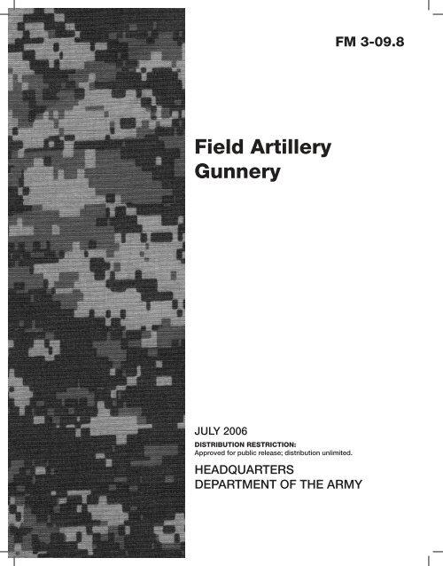 FM 3-09 8: Field Artillery Gunnery - BITS