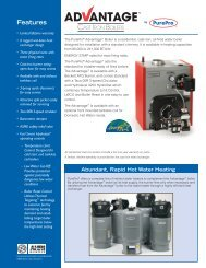 Advantage Boiler Specifications - PurePro Products