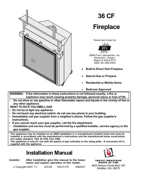 36 Cf Fireplace Travis Industries Dealer Services Login Page