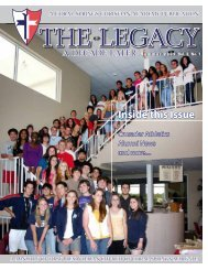 Inside this Issue - Coral Springs Christian Academy