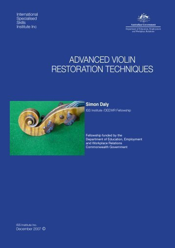 advanced violin restoration techniques - International Specialised ...