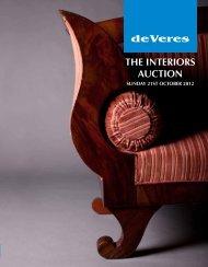 THE INTERIORS AUCTION - deVeres Art Auctions