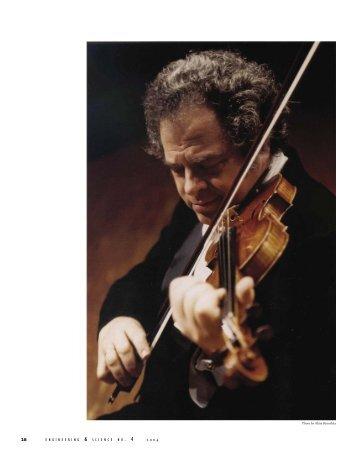 The Science of Violin Making - Engineering & Science
