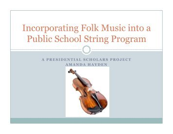 Incorporating Folk Music into a Public School String Program