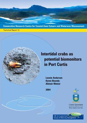 Intertidal crabs as potential biomonitors in Port Curtis - OzCoasts