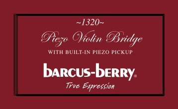Piezo Violin Bridge - Barcus Berry