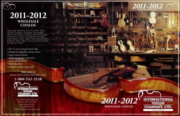 WHOLESALE CATALOG - International Violin Co., Violin, Luthier ...