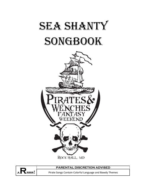 Sea Shanty Songbook Rock Hall S Pirate And Wenches Fantasy