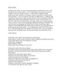 Download a PDF containing Lyrics and Liner Notes - Cathy Fink and ...