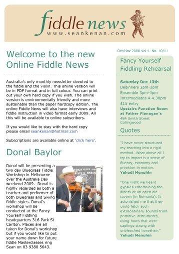 fiddle - Fancy Yourself Fiddling