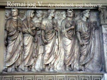 Római jog V.