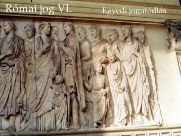 Római jog VI.