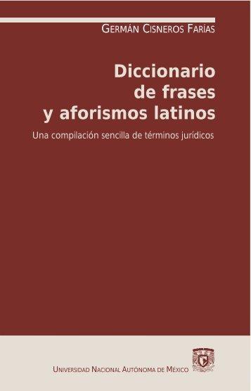 Diccionario de frases y aforismos latinos - CLASSIC-CENDRASSOS