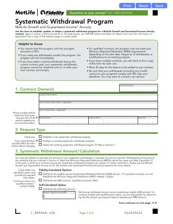 Annuity Partial Withdrawal Request Form (PDF) - Fidelity