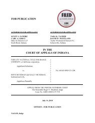 Fidelity National Title Insurance Company v. Rhys ... - State of Indiana