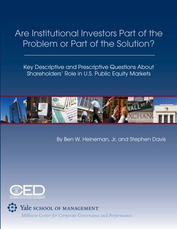the role of institutional investors in