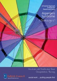 Aspergers Syndrome - teenagers (PDF, 468KB) - Falkirk Council