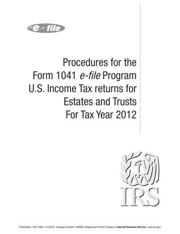 Publication 1437 (Rev. 12-2012) - Internal Revenue Service
