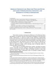 AMERICAN CORPORATE LAW: DIRECTORS' FIDUCIARY DUTIES ...