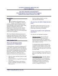 national benefit services, inc. client briefing - Retirement Plan Blog
