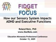 Fidget to Focus-Sensory System Impact on ADHD