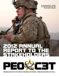 2012 Annual Report to the Stakeholders - PEO C3T - U.S. Army