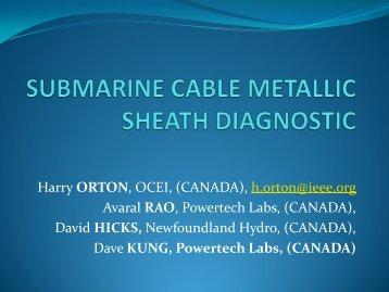 A Metallic Sheath Diagnostic for Submarine Cables - Pesicc.org