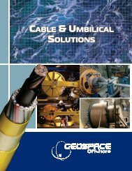 Cable & Umbilical Solutions - GeoSpace Technologies