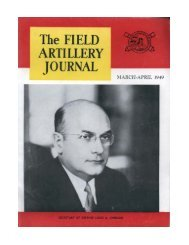 THE FIELD ARTILLERY JOURNAL - MARCH-APRIL 1949