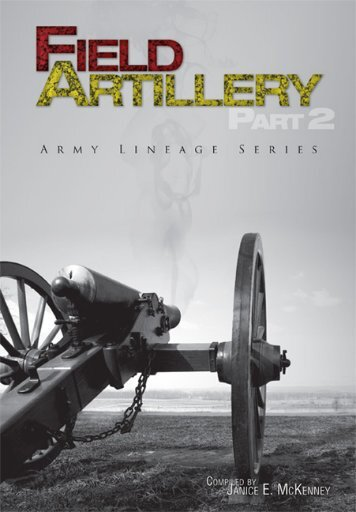 Field Artillery - US Army Center Of Military History