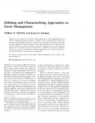 Defining and Characterizing Approaches Farm Management