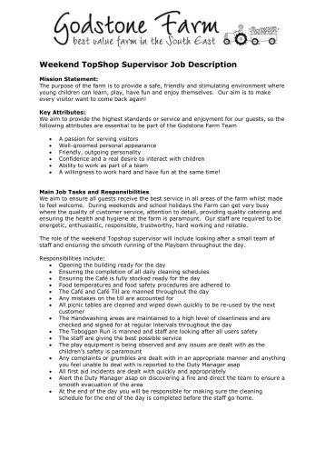 Arena Supervisor Job Description - City Of Berkley
